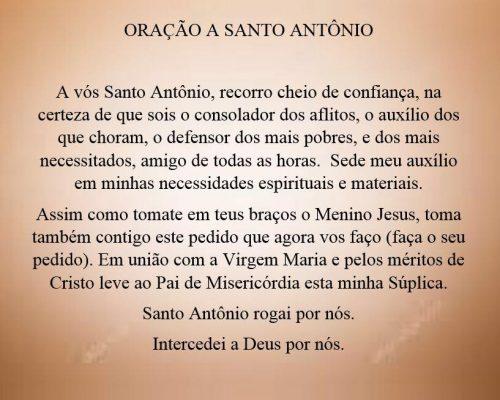 oRACAO DE SANTO aNTONIO