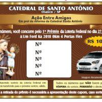 Suas chances de ganhar um carro 0km aumentaram!  Participe da nova ação entre amigos da Catedral de Santo Antônio