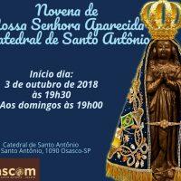 Novena de Nossa Senhora Aparecida terá início dia 3 de outubro. Participe!