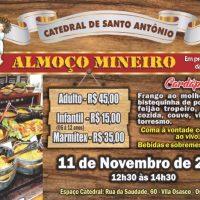 1º Almoço Mineiro da Catedral acontece no dia 11 de novembro