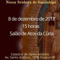 Dia 8 tem terço em homenagem a Nossa Senhora de Guadalupe