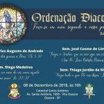 Novos diáconos serão ordenados neste sábado na Catedral