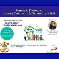 Formação Diocesana da CF 2019 acontecerá na Catedral