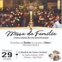 Venha rezar pela sua família