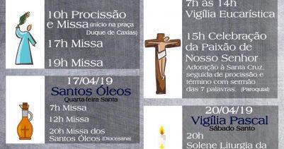 Confira a nossa programação da Semana Santa