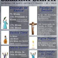 Acompanhe a nossa programação para a Semana Santa
