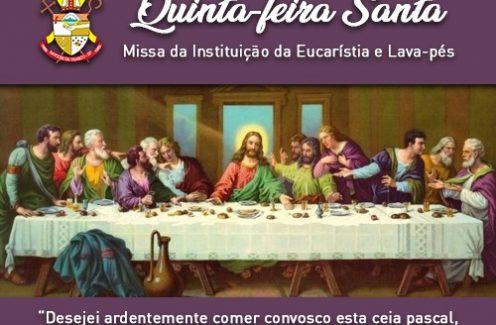Hoje às 20 horas Missa da Ceia do Senhor. Participe!