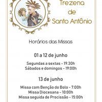 Trezena de Santo Antônio na Catedral terá início em 1 de junho