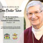 Missa de 7º dia se Dom Ercilio Turco