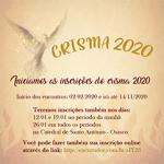 Inscrições Crisma 2020