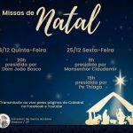 Saiba os horários das missas de Natal na Catedral