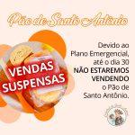 Pão de Santo Antônio: vendas suspensas