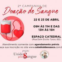 Participe da 2ª Campanha de Doação de Sangue na Catedral