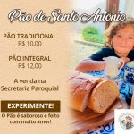 Pão de Santo Antônio fresquinho na Secretaria, aproveite