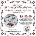 Você já pode encomendar o delicioso Bolo de Santo Antônio