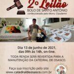 Participe do Leilão de Bolos do Monsenhor