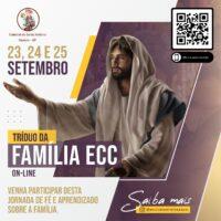 Tríduo da Família ECC acontece nos dias 23, 24 e 25