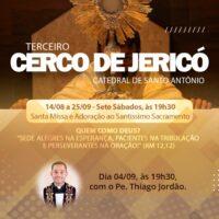 Amanhã tem Cerco de Jericó com Padre Thiago Jordão