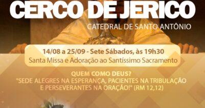 Amanhã receberemos Padre Diego no nosso Cerco de Jericó