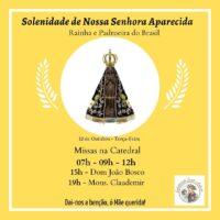 Venha participar da Solenidade de Nossa Senhora Aparecida